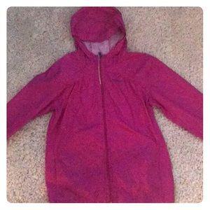 Lightweight pink Columbia rain jacket